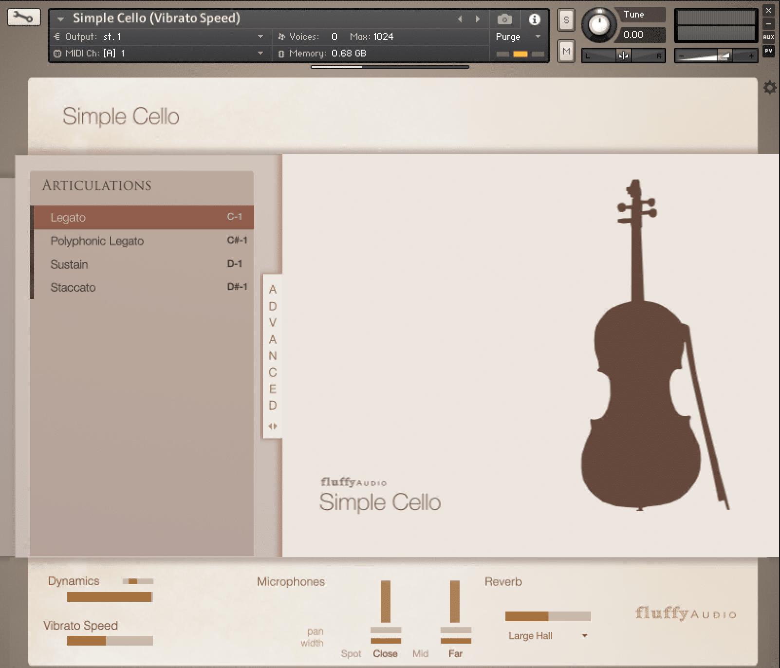 Simple Cello GUI